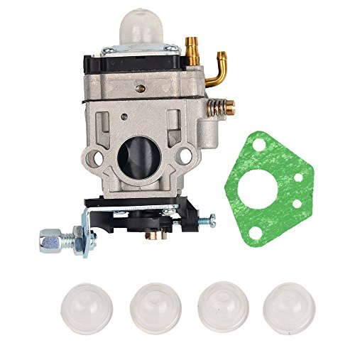 OuyFilters Carburetor Carb 15MM with 4 Primer Bulbs For 43cc 49cc 2 Stroke Mini Pocket Rocket Bike Atv Quad Dirt Bike Gas Scooter Mini-Chopper
