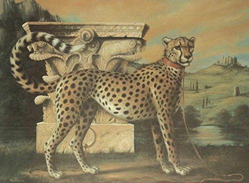 Artland Qualitätsbilder I Kunstdruck Wandbild Gemälde Bild Kunst - Größe 74 x 54 cm - Tiere Wildtiere Raubkatze Braun D1GB - Fine-art-tier-artwork