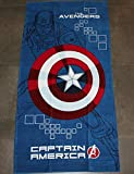 TELO MARE BAMBINO CAPTAIN AMERICA THE AVENGERS MARVEL by BASSETTI AGE OF ULTRON cm 75x150 PURO COTONE