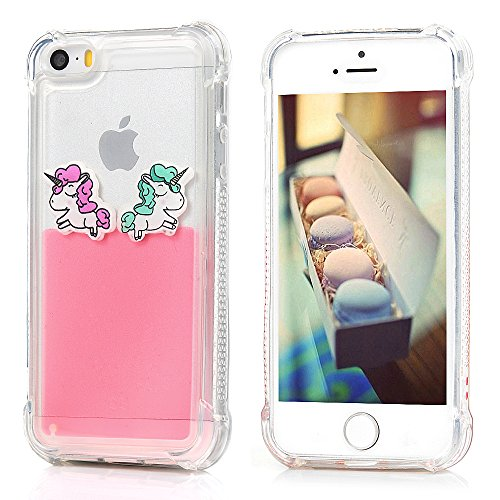 iPhone SE / 5S / 5 Coque Mavis's Diary Étui Housse TPU Silicone Gel Coque de Protection Transparente Liquide Bumper Phone Case Cover Antichoc Protection écran Swag pour iPhone 5, iPhone 5S, iPhone SE  Rose Clair