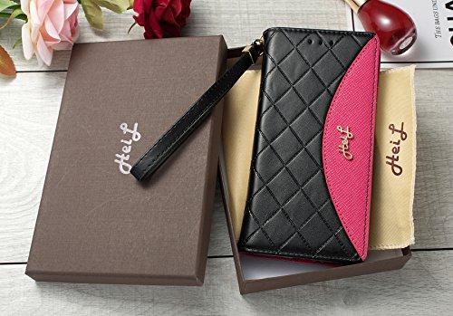 Heil S8Classic (Schnell Uns Liefern Garantie Erfüllt von Amazon) Neuen Eleganten Luxus PU Leder Wallet Style Flip Cover Fall für Samsung Galaxy S8S 8Nur, Black Rose Classic