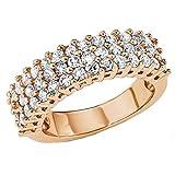 s.Oliver Jewel Damen-Ring 925 Sterling Silber Zirkonia weiß Gr.58 (18.5) 489706