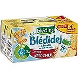 Blédina blédidèj brique de lait et céréales saveur briochée 4x250ml dès 6 mois - ( Prix Unitaire ) - Envoi Rapide...