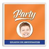 (40 x) Einladungskarten Geburtstag Zwieback Verpackung mit Bild Einladungen