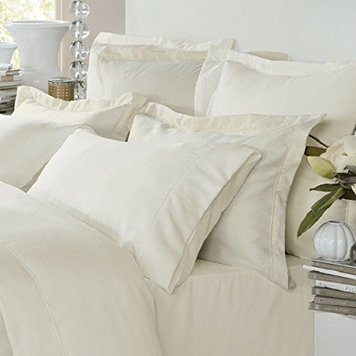 Pure Egyptian Cotton Bedding , 400 Thread Count 100 % Cotton Bed Linen, White King Size Duvet Cover