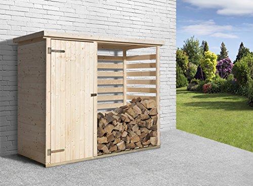 *Weka Brennholzlager, 663 mit Geräteraum, braun, 254x96x193 cm, 663.2409.00.00*