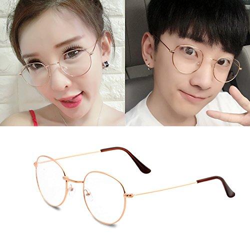 BM koreanische College Retro - runde Metall gut Rahmen Flache Spiegel Kunst mit Brille und Harajuku,alu - Rahmen (Stoff)
