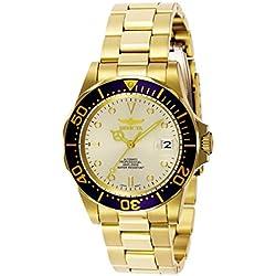 """Invicta INVICTA-9743 Reloj Automatico Unisex """"correa de acero inoxidable"""" Azul/Dorado/Dorado"""