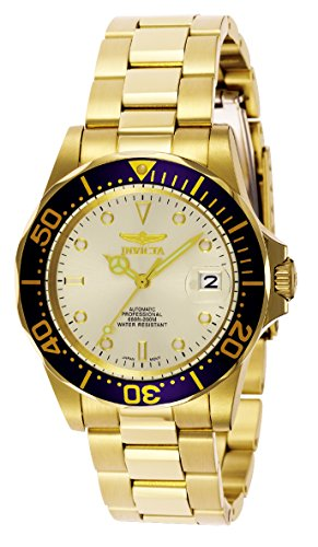 Invicta 9743 Pro Diver Unisex Wrist Watch Stainless Steel Automatic Champagne Dial