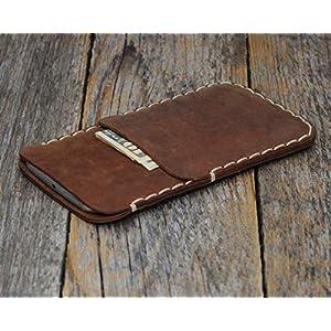 Leder Hülle für iPhone 11 PRO MAX, XS Max braune Tasche Etui Cover Case