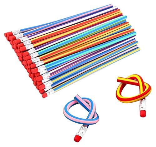 Goldge 35 Pcs Bunt Biegebleistift,Flexible Biegsame Bleistifte,Biegbare Bleistifte, Magic Biegebleistift für Kinder,Party und Kleiner Geschenke -