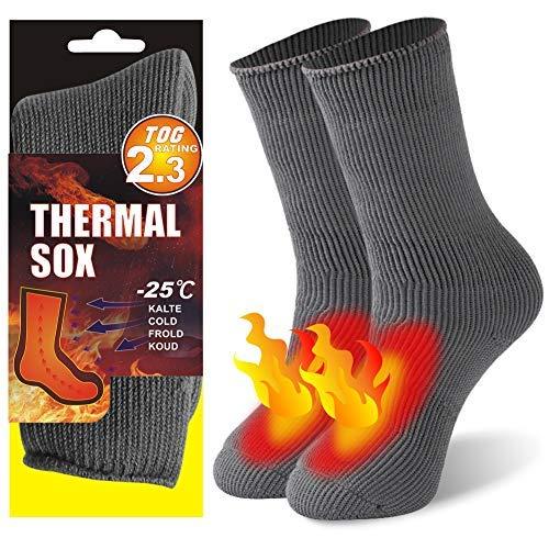 Der Bean-Übung (KitNSox Herren Frauen Dick Warm Isolierte Beheizte Kofferraum Thermo-Socken für kalte Wetter, Damen Herren, Bean Green, US Size: 6-8.5)