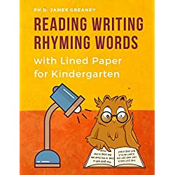 Reading Writing Rhyming Words with Lined Paper for Kindergarten: Easy learning Rhyme books with Sight, CVC word cards educational games. Improve ... for kids Toddlers, Preschoolers to 1st Grade.