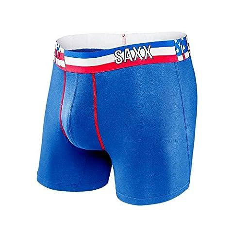SAXX Men's Vibe Everyday USA Fit World Flag Boxer Underwear Blue S