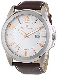 TOM TAILOR Herren-Armbanduhr XL Analog Quarz Leder 5413402