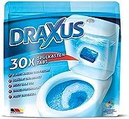 DRAXUS Spülkasten Tabs I 30x WC Tabs für den Spülkasten im Vorratspack I Färbt das Wasser blau I Sorgt für ext