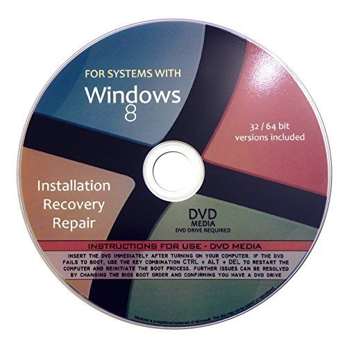 Windows 8 Pro Enterprise 32/64-Bit Reinstallation Re Install Recovery Fix Boot Disk CD - für alle Fabrik- / Modell-PCs einschließlich HP, Lenovo, Dell, Toshiba, Sony, Asus