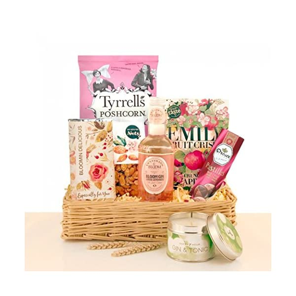 Bloomin Delicious Gin Gift Basket Food And Drink Hamper For Her Fast UK Delivery Gifts