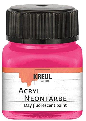 KREUL 77263 acrylique de couleur fluo dans le verre, rose fluo, 20 ml