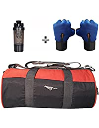 5 O' CLOCK SPORTS Gym Bag Combo Set Enclosed With Polyster Gym Bag With Shoe Compartment For Men For Men And Women...