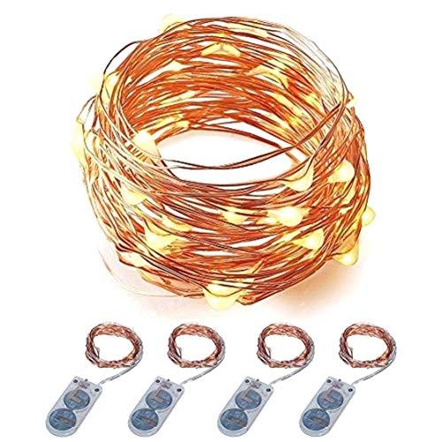 LED Starry String Firefly Lichter Kostüm DIY Hochzeit Home Party Weihnachten 4er Pack