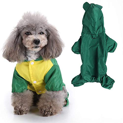 Pssopp Hunde Regenmantel Haustier wasserdichte Regenjacke Haustier Regenmantel Outdoor Hundemantel Hundejacke Regenjacke mit Kapuze für Kleine Mittlere Hunde(S)