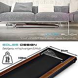 DESKFIT DFT200 Laufband für / unter Schreibtisch - fit und gesund im Büro & zu Hause. Bewegen und ergonomisches Arbeiten, keine Rückenschmerzen - mit praktischer Tablet-Halterung, Fernbedienung und App (Dunkelbraun) - 3