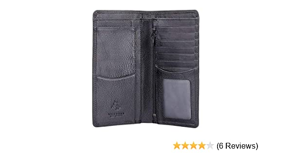 Visconti Soft Leather RFID Long Slim Travel 8 Card Mens Boxed Wallet HT12
