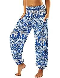 SEEU Damen Bohemian Haremshose für Yoga Strand Festivals, mit bunten Mustern c21ba81e33