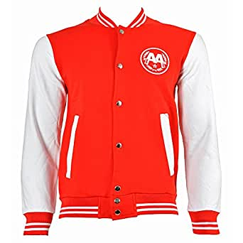 Asking Alexandria Snake Varsity Jacket (Red/White) - Small