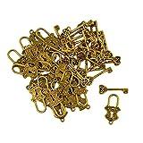 SM SunniMix 30 pcs OT Toggle Verschluss Kettenverschluss Schmuckverschlüss Antik Silber Verschluss für DIY Schmuck