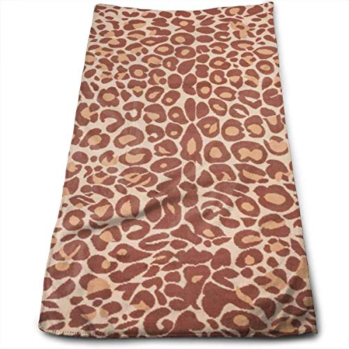 ERCGY Cotton Miami Cocoa Leopard Brown Animal Print Dish Towels,Oversized Kitchen Towels for Drying,Cleaning,Cooking,Baking (12