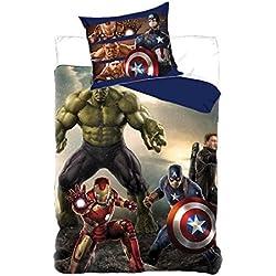 Juego de cama Avengers Marvel = funda de edredón 140x 200+ 1funda de almohada 63x 63cm *