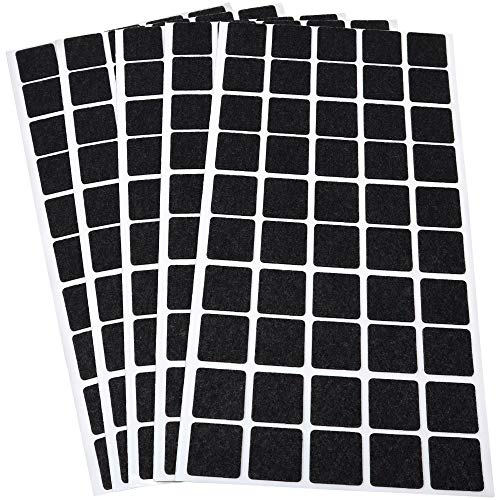 Adsamm® - 250 tacos fieltro 20 x 20 mm color negro