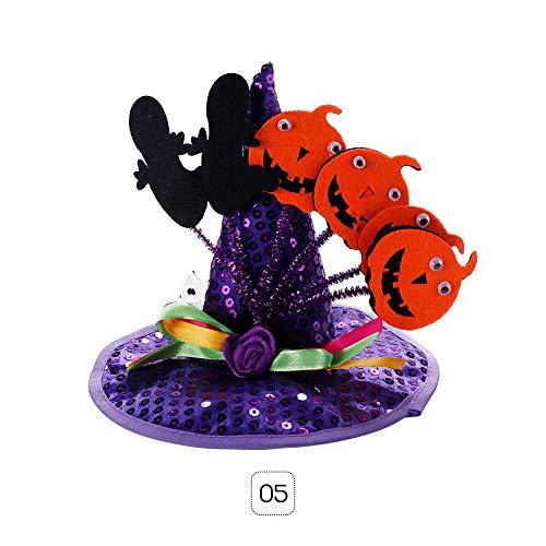 Teabelle Haustierkostüm für Hunde und Katzen, Kürbis-Spinnen-Hexer, Cosplay-Kostüm für Halloween und Weihnachten Purple Pumpkins