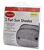 Clippasafe Fun Sun Screens (Black and White, 2 - Pack)