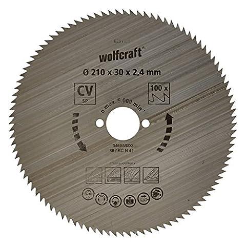 Wolfcraft 6281000 210 x 30 x 2.4mm CV Circular Saw Blade with 100 Teeth - Blue Series