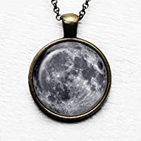 NASA Photograph The Moon La luna Ciondolo e Collana