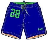 Superdry Water Polo Swim Short Pantalones Cortos, Azul (Racer Cobalt Om3), Small para Hombre