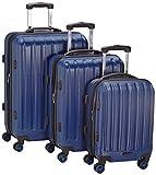 Packenger Premium Koffer 3er-Set Velvet, M/L/XL, Dunkelblau
