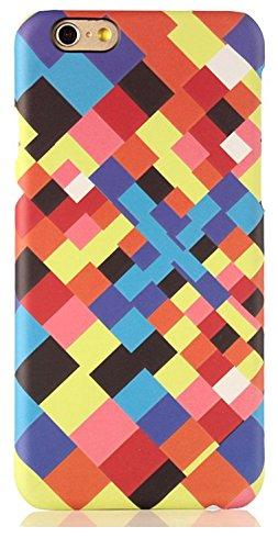 "licaso® iPhone 6 6S 4,7"" Hülle Affe Geometrisch Polycarbonat iPhone Case Schutzhülle 3D Soft Touch iPhone Hülle Rubber Design Tasche iphone6 mehrfarbig PC (iPhone 6 6S 4.7"", Affe) kleine Quadrate 1"
