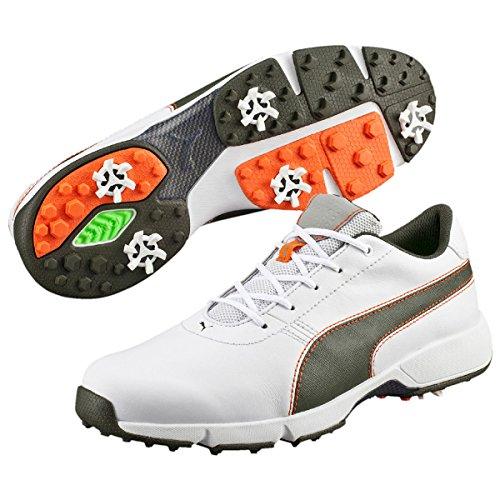 Puma Chaussures de Golf pour Homme - Blanc - White/Forest,...