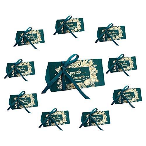 Billty 10 Stück Geschenkbox Schmuck Schachtel Gastgeschenke Süßigkeiten Schokolade Kartonagen Favour Box für Hochzeit Geburtstag Party Taufe
