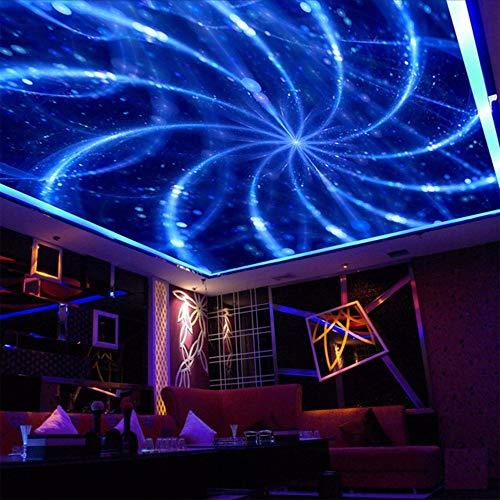 Lsfhb Benutzerdefinierte 3D Fototapete Abstrakte Kunst Blaue Linie Fototapete Moderne Ktv Bar Wohnzimmer Abgehängte Decke Fototapete 3D-200X140Cm (Halloween Linie Kunst)