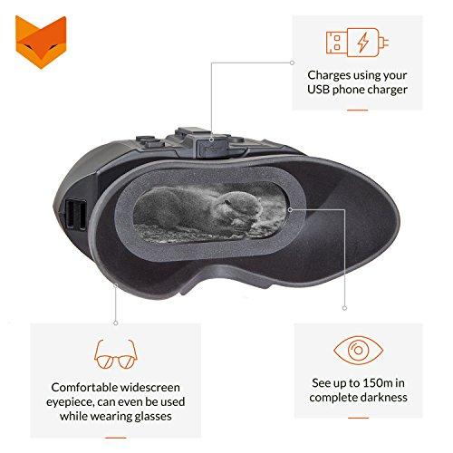 NIGHTFOX 120R Widescreen wiederaufladbar Aufnahme Digital Infrarot-Nachtsicht Brillen–3x 20