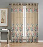 Best Home Fashion Sheer Curtains - BSB Trendz Net Curtain 2 Pcs Long Door Review