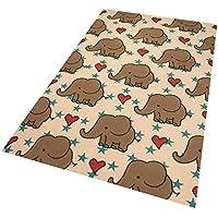 Zala Living Elefants Diseño Infantil (Terciopelo, popypropylen, Color Crema, 200x 140x 0,9cm