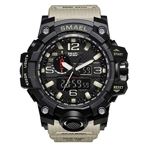 UINGKID Herren Uhr analog Quarz Armbanduhr wasserdicht Uhren Casual Multi-Funktions-Dual Display Dial Outdoor Sportuhr