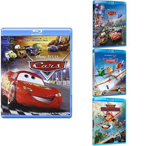 Pack Los Pixar Más Veloces ( Cars + Cars 2 + Aviones + Aviones Equipo De Rescate)  [Blu-ray]