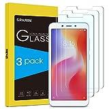 [3 Pack] SPARIN Cristal Templado Xiaomi Redmi 6/6A, Protector Pantalla Xiaomi Redmi 6/6A Vidrio Templado con [2.5d Borde Redondo] [9H Dureza] [Alta Definicion] para Xiaomi Redmi 6/6A